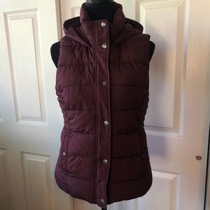 Abercrombie & Fitch Puffy Vest w/ Hoodie